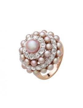 Anello Mimì Garbo perle viola
