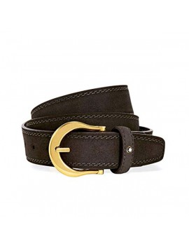 Cintura Montblanc marrone scamosciata