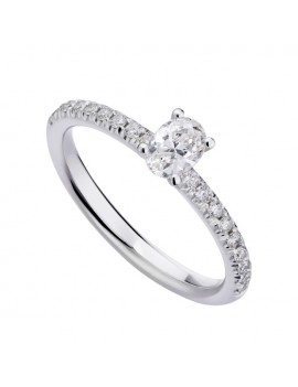 Anello solitario diamante ovale