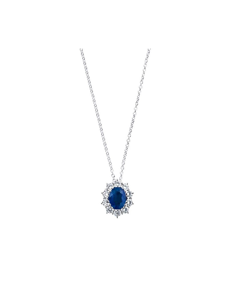 negozio online 1b9df 3c9ad Collana Damiani zaffiro e diamanti