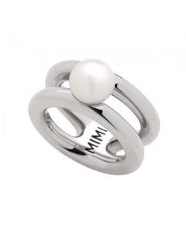 Anello Mimi argento e perla bianca ALM419XB1