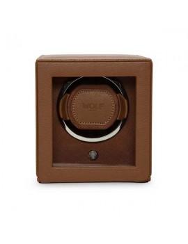 Porta orologi Wolf rotore cognac 461127