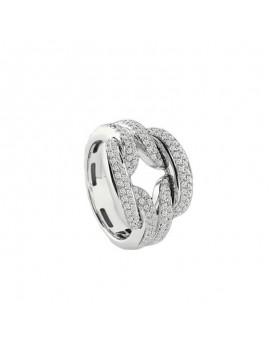 Anello Damiani D.Lace oro bianco e diamanti