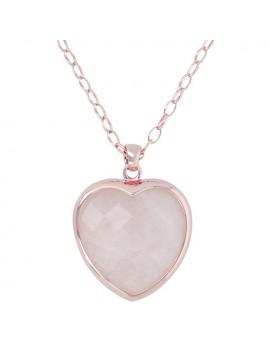 Collana Bronzallure cuore rosa
