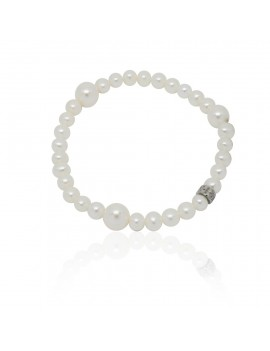Bracciale Mimì perle bianche