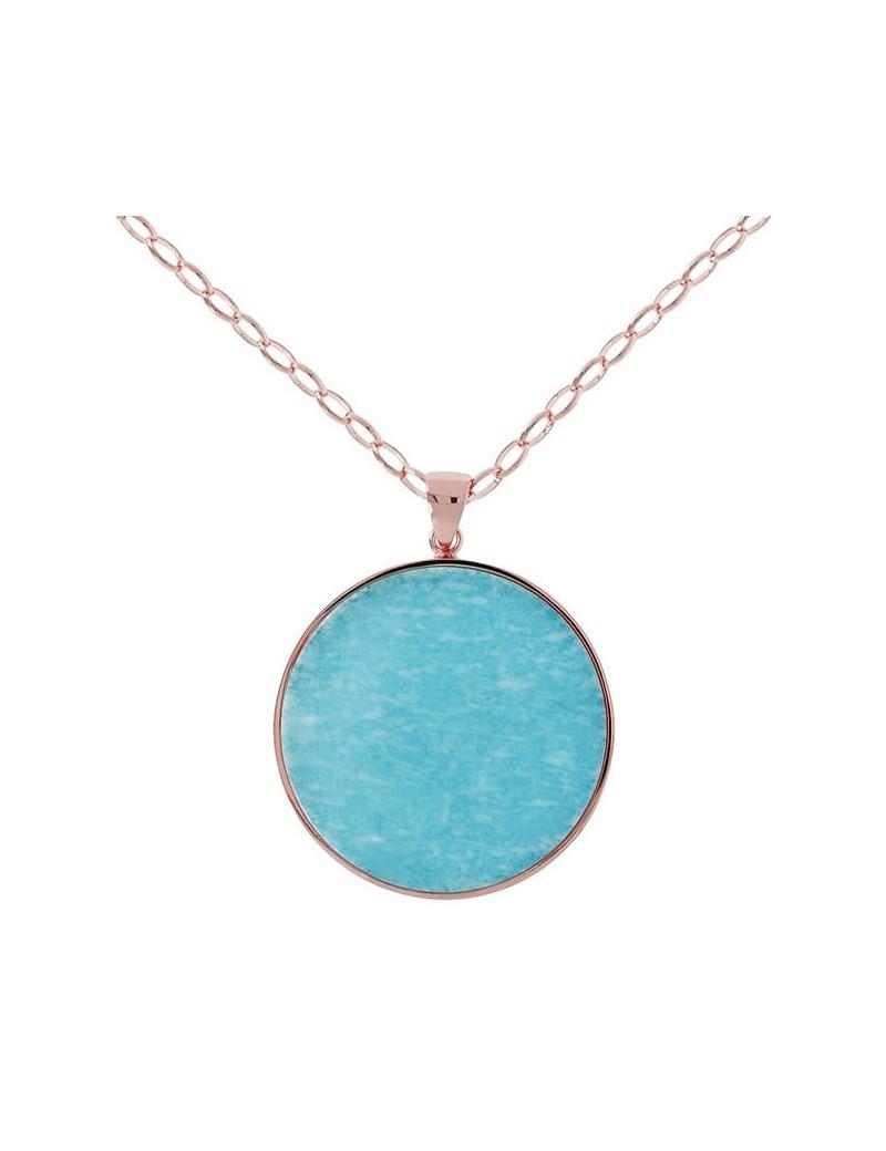 Collana bronzallure alba azzurra WSBZ00708.AZ