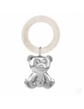 Sonaglio da bimbo argento orso