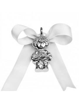 Medaglione argento bimba