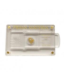 Pepita oro e diamante 0,08 materia  prima