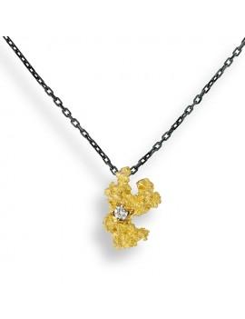 Collana Pepita oro diamante bianco