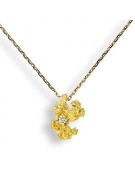 Collana Pepita oro giallo e diamante
