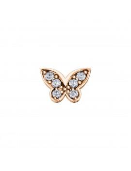 Farfalla Elements oro rosa diamanti
