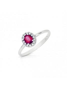 Anello DonnaOro rubino e diamanti DHAR7879.006