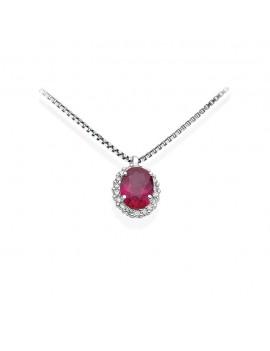 Collana DonnaOro rubino e diamanti DHPR7877.006