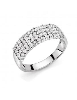 Anello DonnaOro diamanti fascia DFAF7462.017
