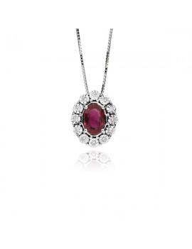 Collana DonnaOro rubino e diamanti DCPR5414.006