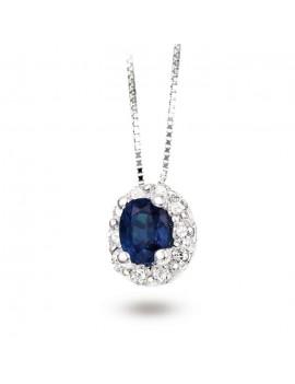 Collana DonnaOro zaffiro e diamanti DCPZ4551.033