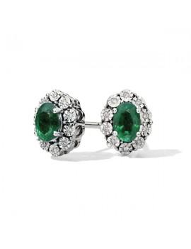 Orecchini DonnaOro smeraldi diamanti DCOR5413.008