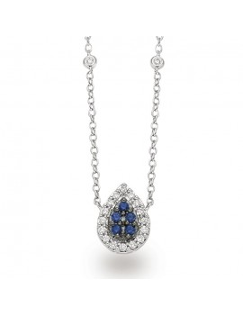 Collana a goccia DonnaOro zaffiri diamanti DCPZ7452.009