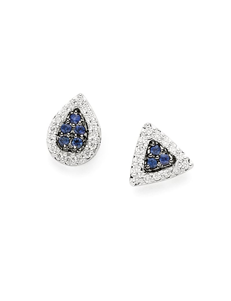 Orecchini DonnaOro zaffiri e diamanti DCOZ7451.014