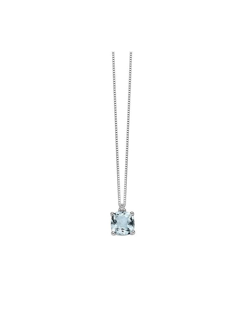 Collana acquamarina e diamante DonnaOro DHPA7184.002