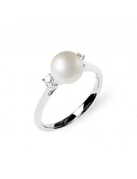 Anello DonnaOro perla e diamanti in oro DHAP7378.004