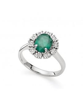 Anello DonnaOro smeraldo e diamanti DCAE5412.006