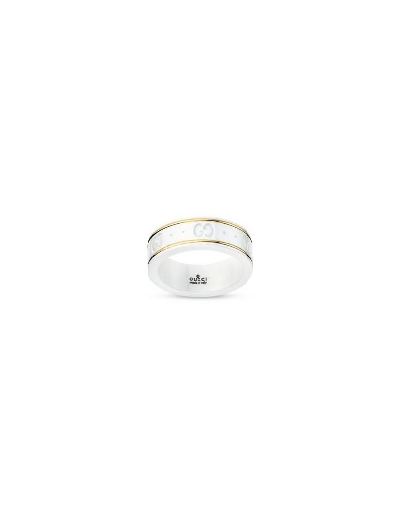 best service 77523 ebea2 Anello Gucci Icon bianco