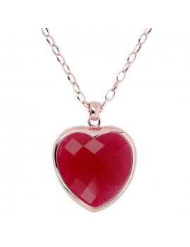 Collana Bronzallure cuore rosso WSBZ00048LGPA