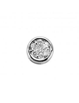 Astri Elements oro bianco tondo e diamanti DCHF8524.003