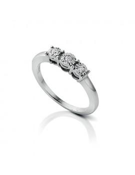 Anello Trilogy DonnaOro diamanti DKAT2378.007