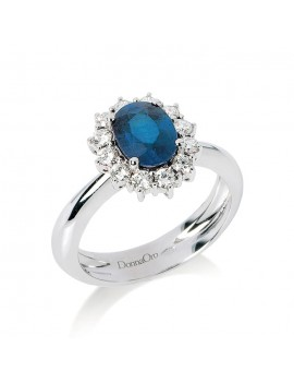 Anello DonnaOro zaffiro e diamanti DGA0036Z.36