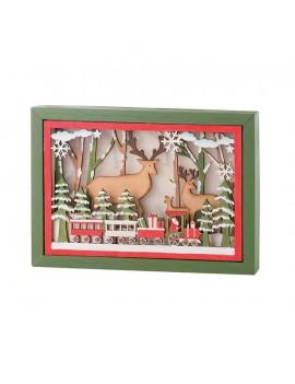 Quadro Natale legno grande l'Oca Nera