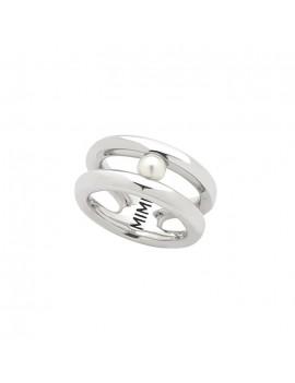 Anello Mimi argento e perla bianca ALM418XB1