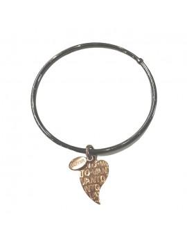 Bangle Vanto in argento con cuore pendente