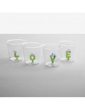 Bicchiere Ichendorf lettere alfabeto fiorito