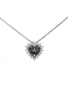 Collana DonnaOro cuore diamanti DHPF9129.004