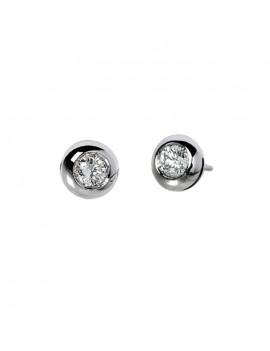 Orecchini Donnaoro oro bianco diamanti cipollina 0,09