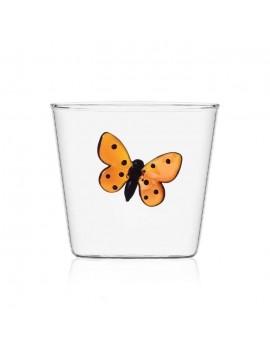 Bicchiere acqua Ichendorf farfalla rossa
