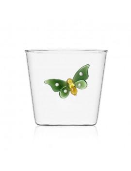 Bicchiere acqua Ichendorf farfalla verde garden picnic