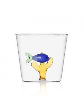 Bicchiere acqua Ichendorf pesce blu e alga