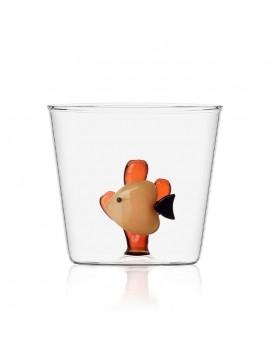 Bicchiere Ichendorf pesce e alga ambra