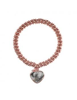 Bracciale Bronzallure cuore grigio WSBZ01069.GQ