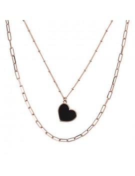 Collana Bronzallure doppio filo cuore WSBZ01890.BO