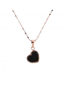 Collana Bronzallure cuore mini nero WSBZ01892.BO