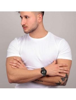 Sector smartwatch digitale bianco acciaio